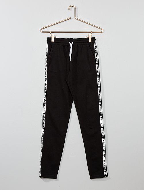 Pantalon de jogging à bande                                                                 noir Fille adolescente