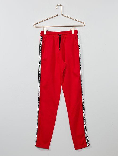 Pantalon de jogging à bande                                                                 rouge Fille adolescente