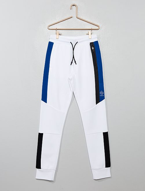 Pantalon de jogging à bandes                                                                 blanc