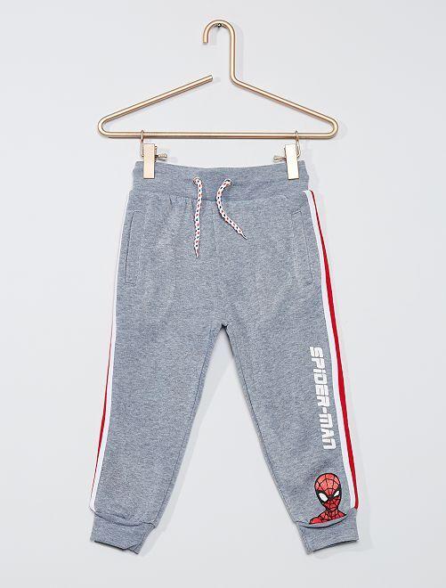 Pantalon de jogging à bandes                                         gris chiné