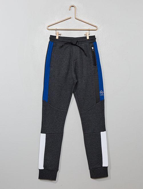 Pantalon de jogging à bandes                                                                 gris