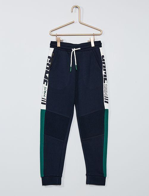Pantalon de jogging à bandes                                         marine