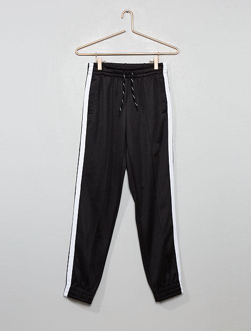 Pantalon de jogging à bandes                             noir
