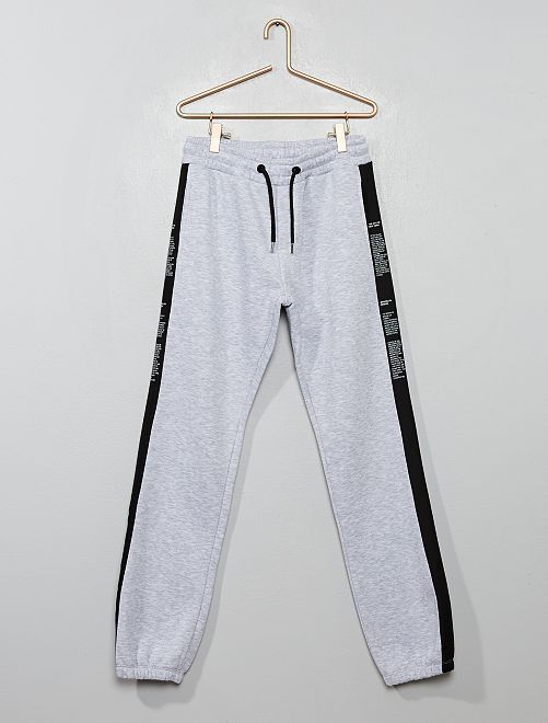Pantalon de jogging avec bandes à messages                                         gris