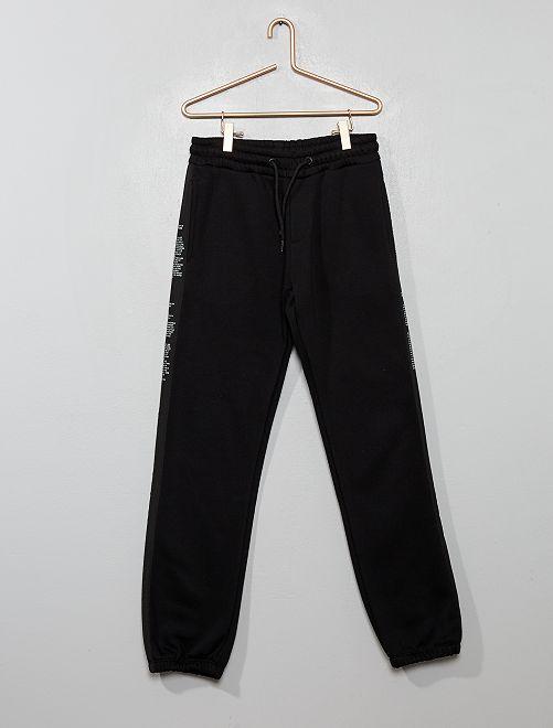 Pantalon de jogging avec bandes à messages                                         noir