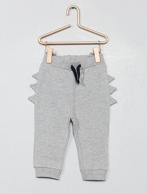 Pantalon de jogging avec crête                                                                 gris