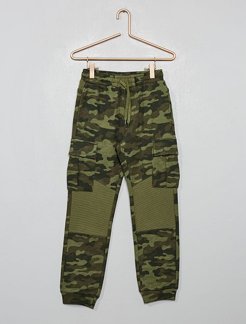Pantalon de jogging avec poches                                         kaki camouflage