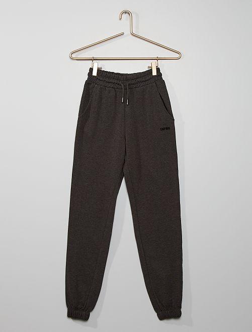 Pantalon de jogging bande imprimée                                                                                             gris foncé