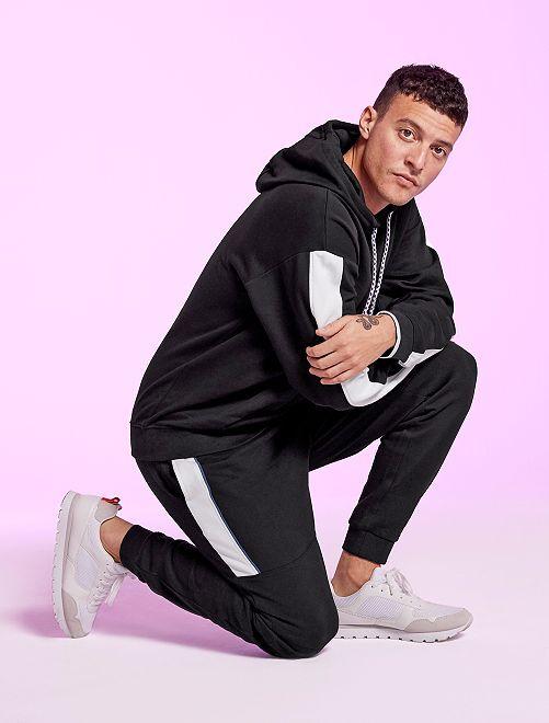 Pantalon de jogging bicolore                             noir
