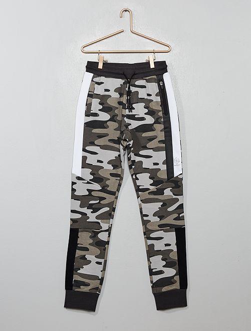 Pantalon de jogging camouflage                                                                 camouflage