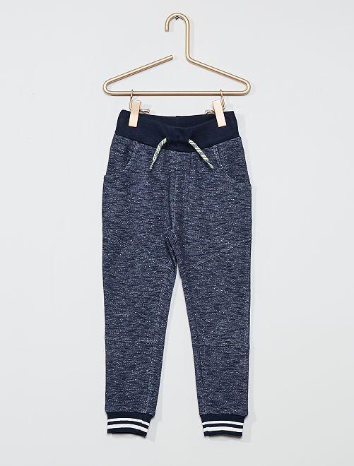Pantalon de jogging chiné                             noir