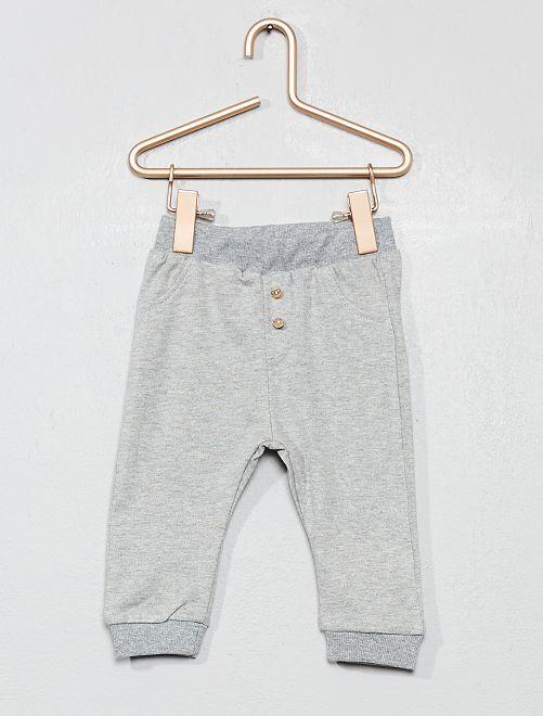 Pantalon de jogging détail boutons                                                     gris