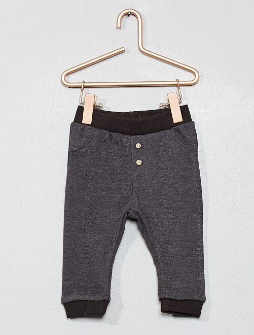 Pantalon de jogging détail boutons                                                                 gris foncé