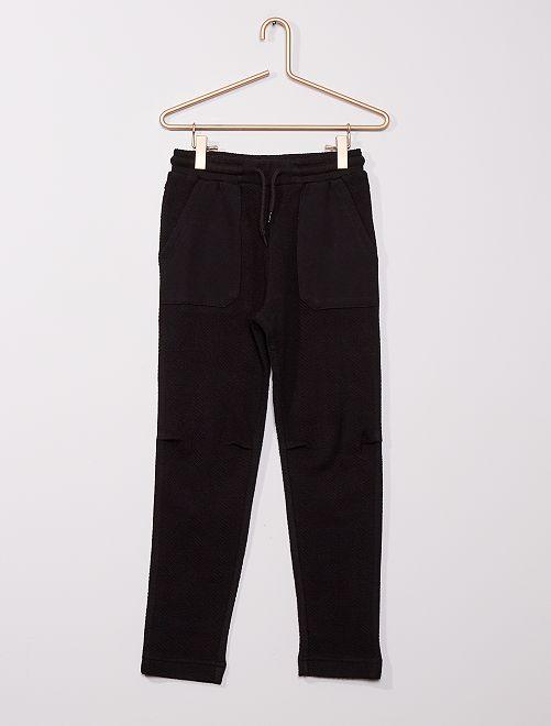 Pantalon de jogging en chevron                                                                 noir