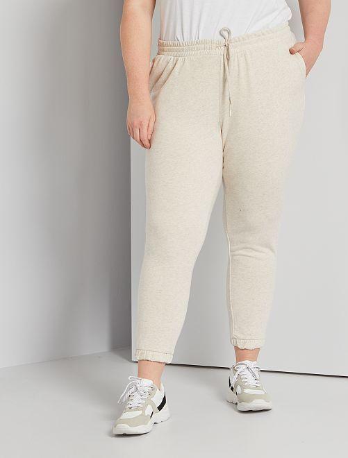 Pantalon de jogging en molleton                                                                             beige chiné