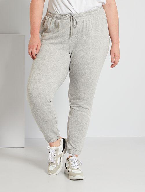 Pantalon de jogging en molleton                                                                             gris chiné clair