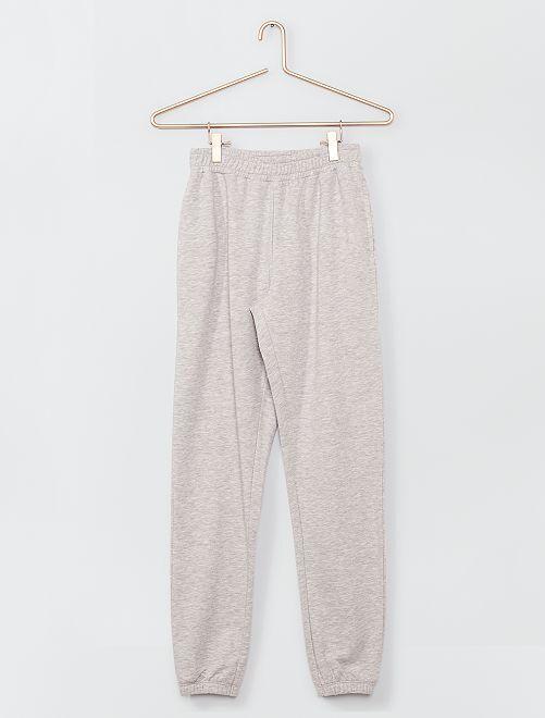 Pantalon de jogging en molleton                                         gris