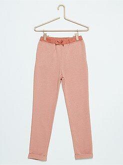 Pantalon - Pantalon de jogging en molleton pailleté