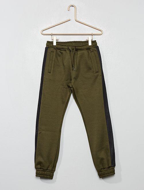 Pantalon de jogging en molleton satiné                                         kaki
