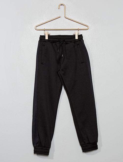 Pantalon de jogging en molleton satiné                                         noir