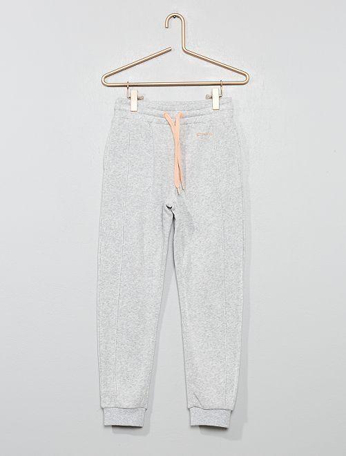 Pantalon de jogging fluide et doux                                         gris chiné