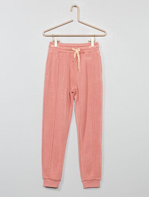 Pantalon de jogging fluide et doux                                         rose
