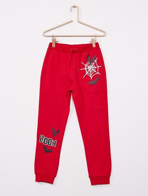 Pantalon de jogging 'Halloween'                                                     rouge