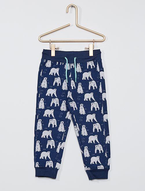 Pantalon de jogging imprimé                             bleu marine
