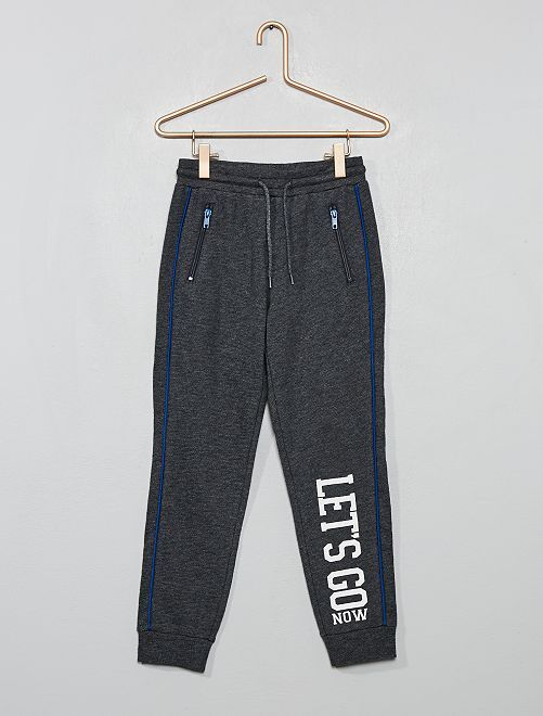 Pantalon de jogging imprimé                                                     gris foncé