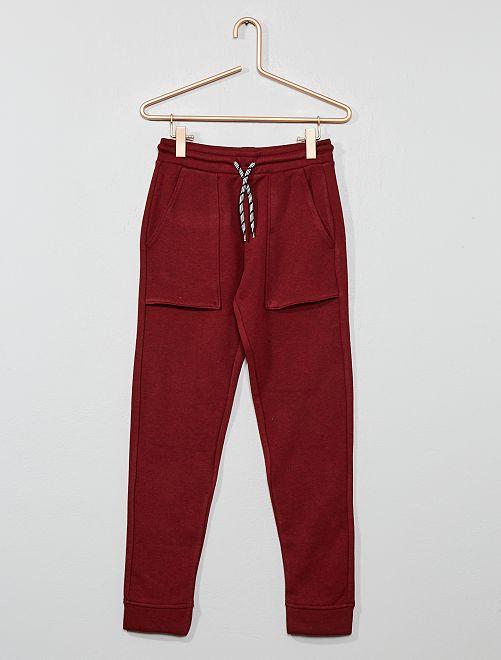 Pantalon de jogging larges poches                                                                 bordeaux Garçon