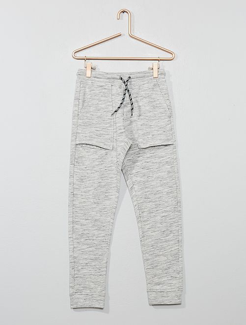 Pantalon de jogging larges poches                                                                 gris chiné clair