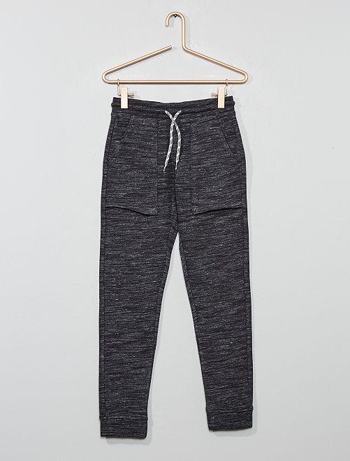 Pantalon de jogging larges poches                                                                 gris chiné foncé
