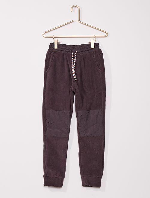 Pantalon de jogging maille polaire                                         gris foncé