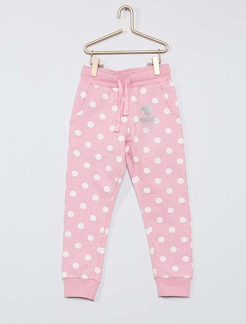 Pantalon de jogging 'Minnie'                             rose pois