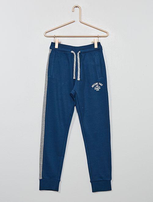 Pantalon de jogging molleton                                         bleu