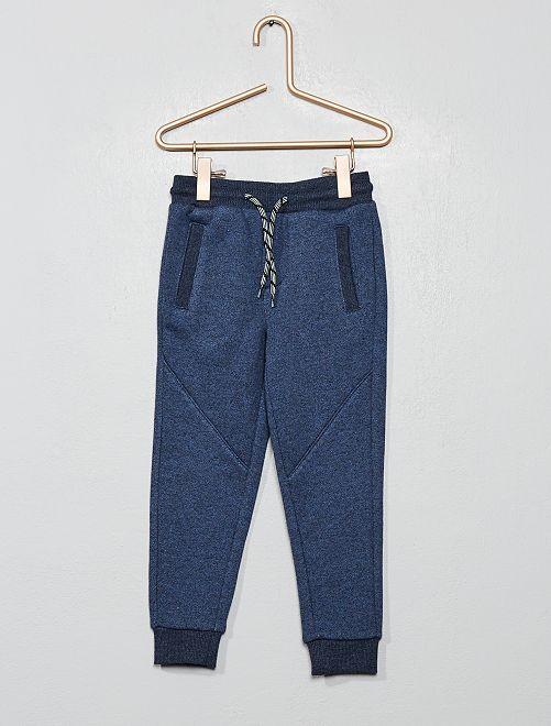 Pantalon de jogging molleton                                         bleu Garçon