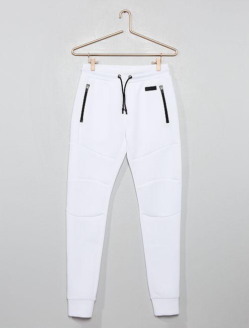 Pantalon de jogging molleton effet 'néoprène'                                                                 blanc