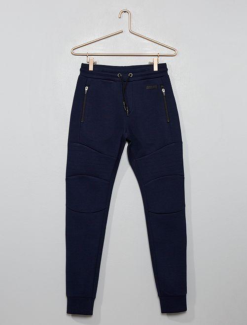 Pantalon de jogging molleton effet 'néoprène'                                                                 bleu marine