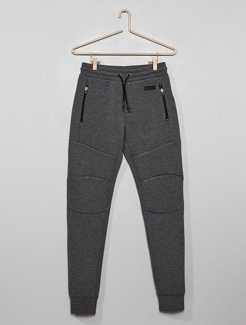 Pantalon de jogging molleton effet 'néoprène'                                                                 gris