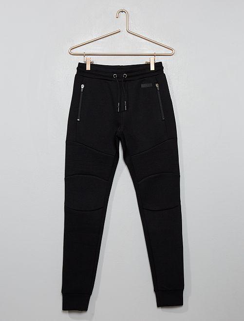 Pantalon de jogging molleton effet 'néoprène'                                                                 noir