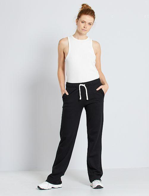 Pantalon de jogging molletonné                                         noir