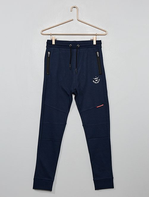 Pantalon de jogging poches zipées                                                     bleu