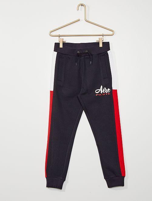 Pantalon de jogging tricolore                                                                 bleu marine
