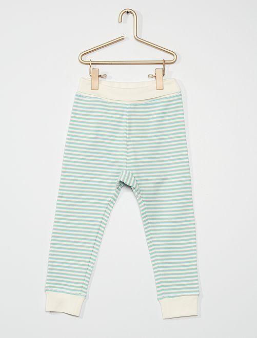 Pantalon de jogging                                         vert rayé