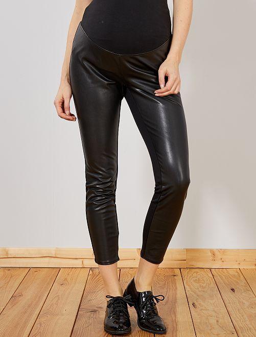 Pantalon de maternité bimatière                             noir Femme