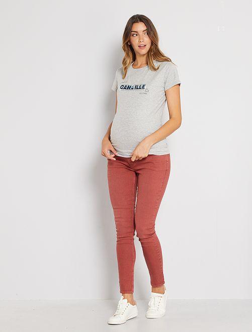 Pantalon de maternité                             brique