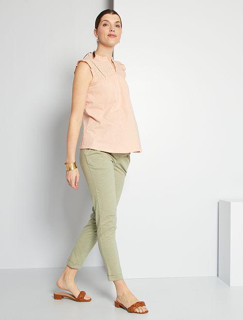Pantalon de maternité éco-conçu                                         kaki clair