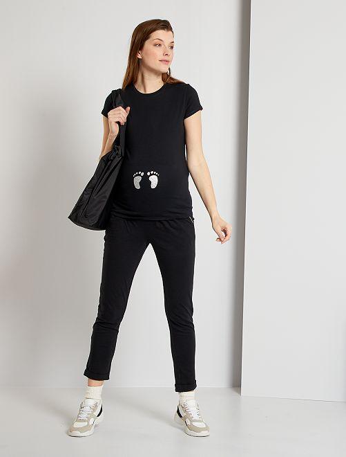 Pantalon de maternité éco-conçu                                         noir