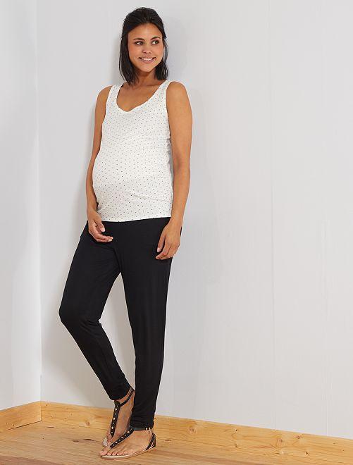 Pantalon de maternité en maille                                                     noir Femme