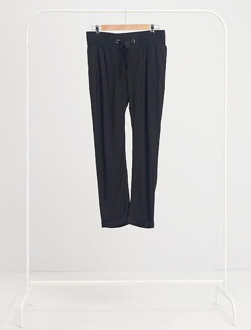 Pantalon de maternité fluide                                         noir